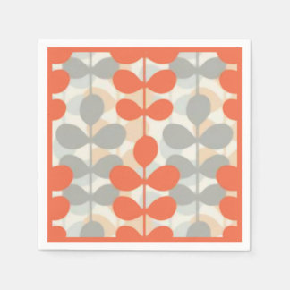Retro Leaf Paper Napkins