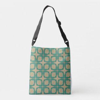 Retro Leaf Pattern Crossbody Bag