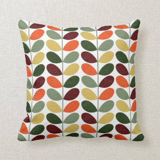 Retro Leaves 02 Large Pattern Throw Cushions