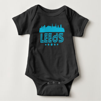 Retro Leeds Skyline Baby Bodysuit