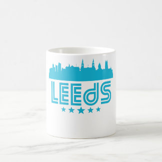 Retro Leeds Skyline Coffee Mug