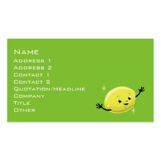 Retro Lemon Guy Pack Of Standard Business Cards