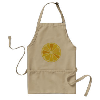 Retro lemon standard apron
