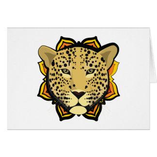 Retro Leopard Card