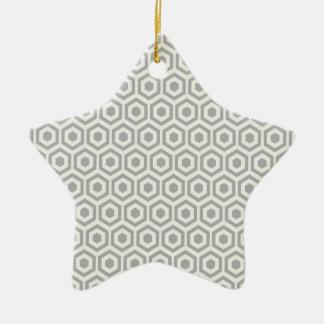 Retro Light Gray Honeycomb Ceramic Star Decoration
