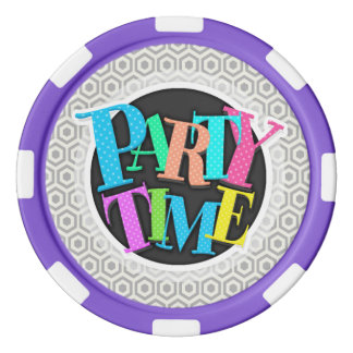 Retro Light Gray Honeycomb Poker Chip Set
