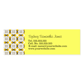 Retro Light Yellow & Brown Profile Card Business Card Templates