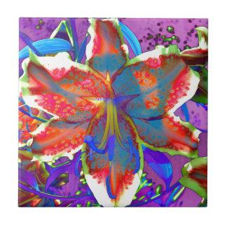 Retro Lily Tile