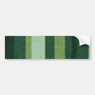 Retro Lime Green Grunge Stripe Bumper Sticker