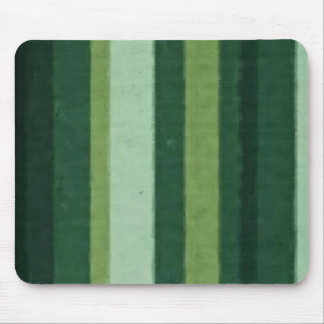 Retro Lime Green Grunge Stripe Mouse Pads