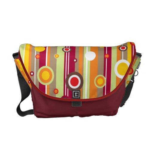 Retro Line Circles Vector Courier Bags