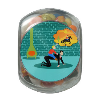 Retro Little Cowboy Candy Jar Jelly Belly Candy Jars