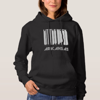 Retro Little Rock Arkansas Skyline Hoodie