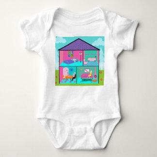 Retro Living Dollhouse Infant Creeper