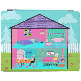 Retro Living Dollhouse iPad Cover