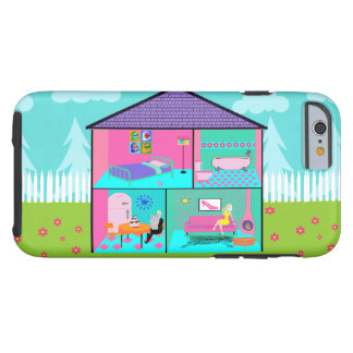 Retro Living Dollhouse iPhone 6 Case Tough iPhone 6 Case