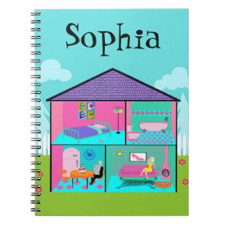 Retro Living Dollhouse Notebook