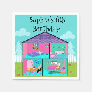 Retro Living Dollhouse Paper Napkins
