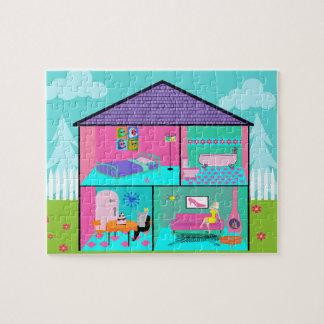 Retro Living Dollhouse Puzzle