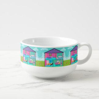 Retro Living Dollhouse Soup Mug