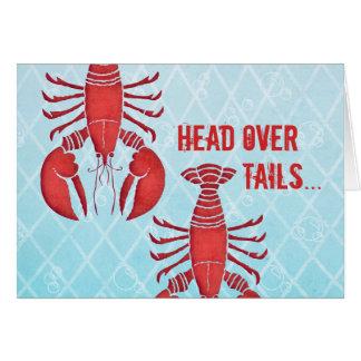 Retro Lobster Card