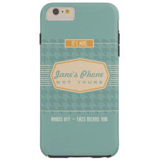 Retro Logo Funny Personalized Phone Case Aqua