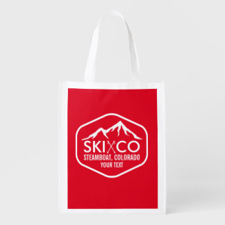 Retro Logo Ski Mountain Steamboat Colorado Custom