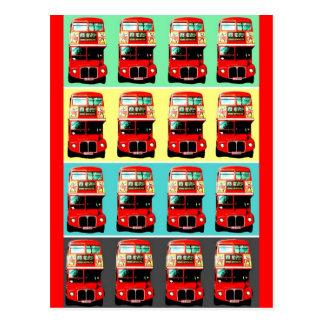 Retro London Bus Postcard -3