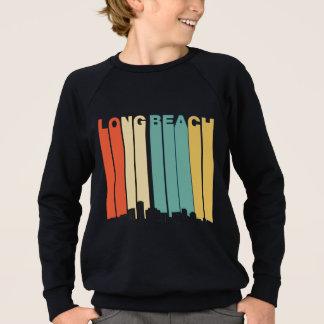 Retro Long Beach California Skyline Sweatshirt