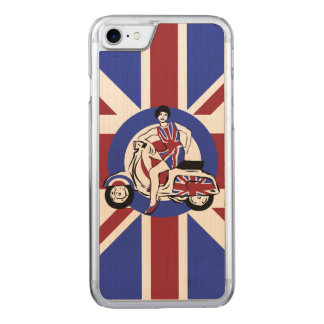 Retro look sixties British scooter girl Mod art Carved iPhone 8/7 Case