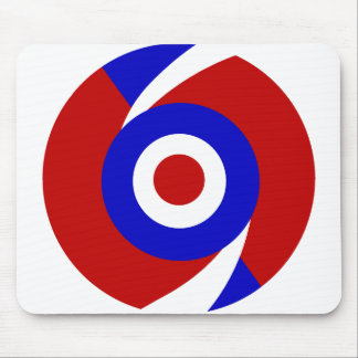 Retro look sixties style mod design mouse pad