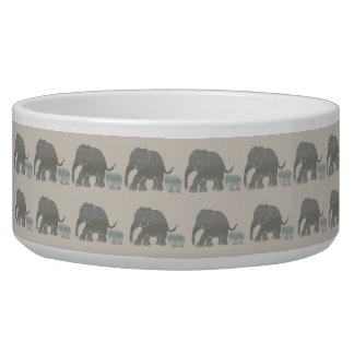 Retro Look Vintage Elephants with Baby Parades