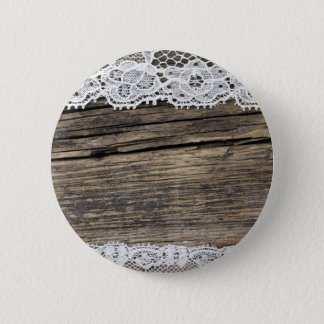 retro look with old lace 6 cm round badge