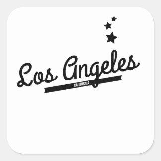 Retro Los Angeles Logo Square Sticker