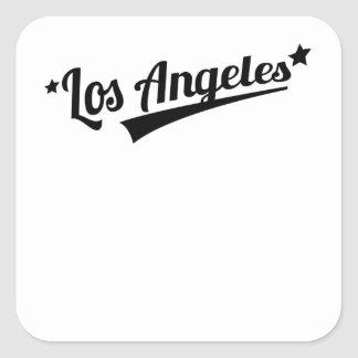 Retro Los Angeles Logo Square Stickers