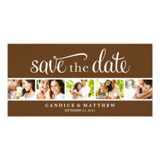 RETRO LOVE | SAVE THE DATE ANNOUNCEMENT CUSTOMISED PHOTO CARD
