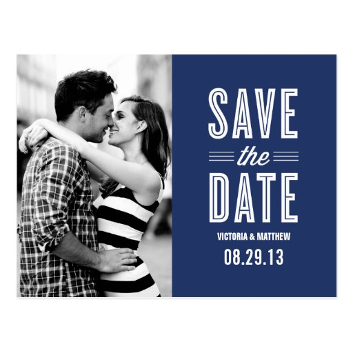 RETRO LOVE   SAVE THE DATE ANNOUNCEMENT POSTCARDS