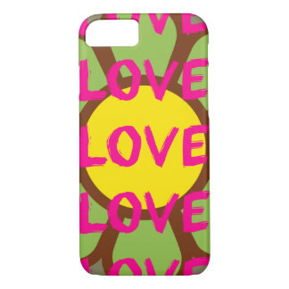 Retro Love Typography iPhone 7 Case