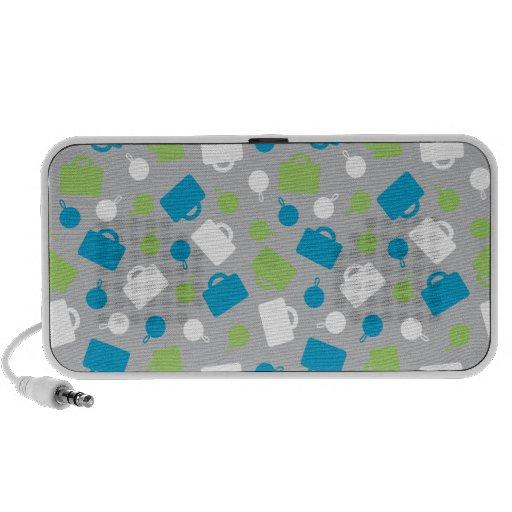 Retro Luggage Blue Speaker