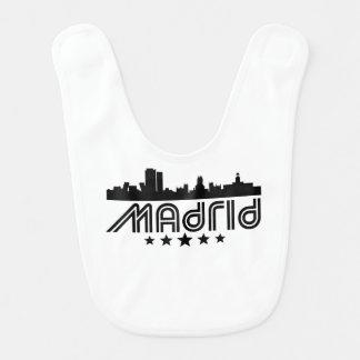 Retro Madrid Skyline Bib