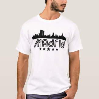 Retro Madrid Skyline T-Shirt