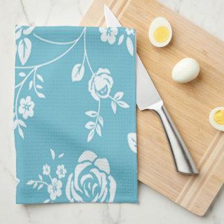 Retro_Maggie-Floral_Maggie Blue* Custom Color_ Tea Towel
