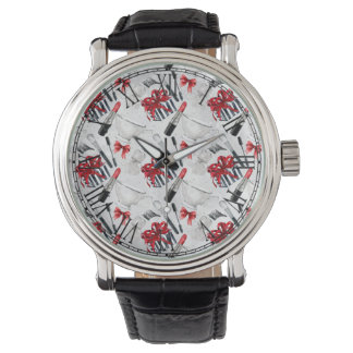 Retro Make Up Girly Trendy Colorful Watch
