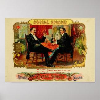 Retro Man Cave Cigar Box Label Reproduction #1 Poster