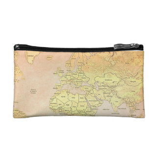 Retro Map Vintage Cosmetic Bag