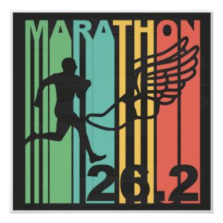Retro Marathon Poster