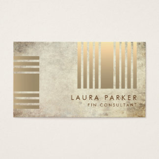 Retro Marble Gold Geometrical Finance Construction Business Card