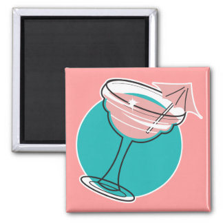 retro margarita design magnet