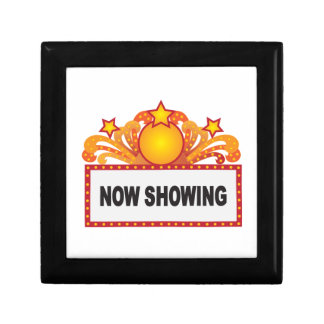 Retro Marquee Sign with Lights Illustration Gift Box