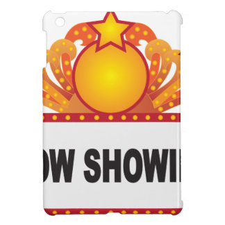 Retro Marquee Sign with Lights Illustration iPad Mini Cover
